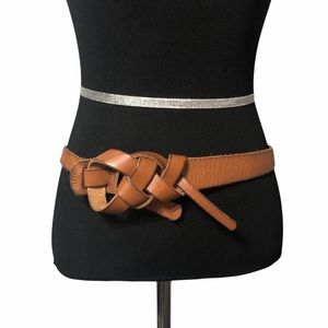 Loft Brown Knotted Leather Belt